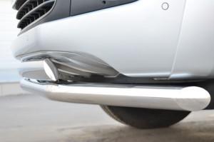 3809 VOLKSWAGEN Amarok 2013 Защита переднего бампера d63 (секции) 75х42 (дуга)