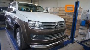 Защита переднего бампера Volkswagen Amarok (2010-) (одинарная) d76