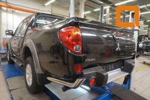 Защита заднего бампера Mitsubishi L200 (2014-) (уголки) d 76