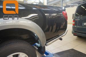 Защита заднего бампера Mitsubishi L200 (2014-) (уголки) d 76(2)