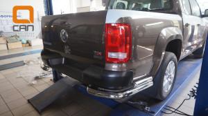 Защита заднего бампера Volkswagen Amarok (2010-) (уголки) d76 60