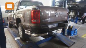 Защита заднего бампера Volkswagen Amarok (2010-) (уголки) d76 60(1)