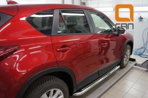 Пороги нержавеющая труба с листом C2 d60mm Mazda CX5 (2012-) 2
