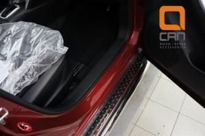 Пороги нержавеющая труба с листом C2 d60mm Mazda CX5 (2012-) 3