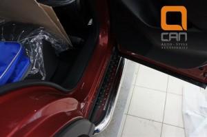 Пороги нержавеющая труба с листом C2 d60mm Mazda CX5 (2012-) 4