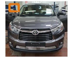 Решетка переднего бампера Toyota Highlander (2014-) d16 2