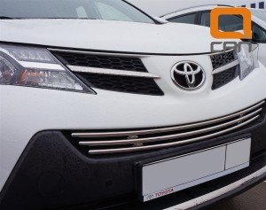 Решетка переднего бампера Toyota RAV4 (2013-) d16 2