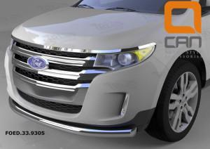 Защита переднего бампера Ford Edge (2014-)  d 76