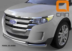 Защита переднего бампера Ford Edge (2014-) (двойная) d 76 60