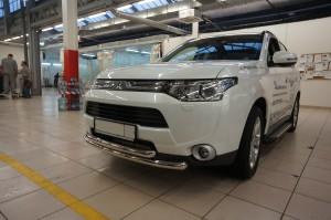 Защита переднего бампера Mitsubishi Outlander 2