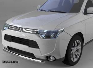 Защита переднего бампера Mitsubishi Outlander (-2014 2014-) (одинарная) d60