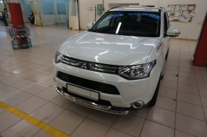 Защита переднего бампера Mitsubishi Outlander 3