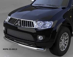 Защита переднего бампера Mitsubishi Pajero Sport (Митсубиши Паджеро) (2008-) L200 (2014- кроме комплектации Invite) (одинарная) d 76