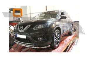 Защита переднего бампера Nissan X-Trail (2014-) (двойная) d 60 42 2