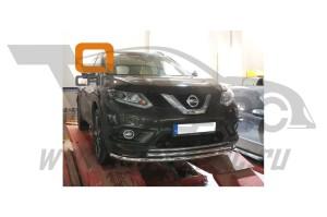 Защита переднего бампера Nissan X-Trail (2014-) (двойная) d 60 42 3