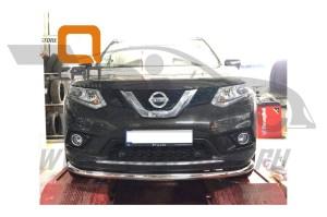 Защита переднего бампера Nissan X-Trail (2014-) (одинарная) d 60 2