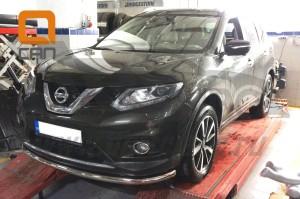 Защита переднего бампера Nissan X-Trail (2014-) (одинарная) d 60 3