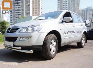 Защита переднего бампера Ssang Yong Kyron (Ссанг Йонг Кайрон) (2006-) (двойная) d 76 60 4