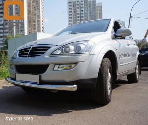 Защита переднего бампера Ssang Yong Kyron (Ссанг Йонг Кайрон) (2006-) (одинарная) d 76 3