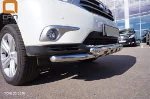 Защита переднего бампера Toyota Highlander (Тойота Хайлендер) (2010-2013) (Shark) d 60 60 3