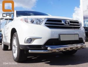 Защита переднего бампера Toyota Highlander (Тойота Хайлендер) (2010-2013) (Shark) d 60 60 4