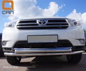 Защита переднего бампера Toyota Highlander (Тойота Хайлендер) (2010-2013) (двойная) d 60 60 2