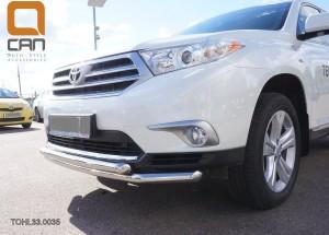 Защита переднего бампера Toyota Highlander (Тойота Хайлендер) (2010-2013) (двойная) d 60 60 3