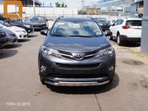 Защита переднего бампера Toyota RAV4 (Тойота РАВ4) (2013-) (двойная Shark) d 60 60 4