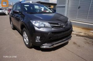 Защита переднего бампера Toyota RAV4 (Тойота РАВ4) (2013-) (двойная) d 60 60 3