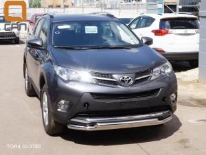 Защита переднего бампера Toyota RAV4 (Тойота РАВ4) (2013-) (двойная) d 60 60