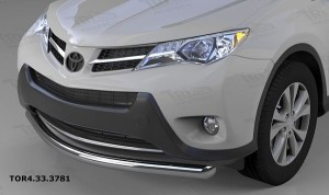 Защита переднего бампера Toyota RAV4 (Тойота РАВ4) (2013-) (одинарная) d 60