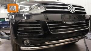 Защита переднего бампера Volkswagen Touareg (2010-) (двойная) d60 60 2