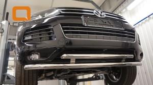 Защита переднего бампера Volkswagen Touareg (2010-) (двойная) d60 60 3