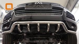 Защита переднего бампера Volkswagen Touareg (2010-) (одинарная Shark) d60 42 3