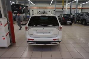 Защита заднего бампера Mitsubishi Outlander2