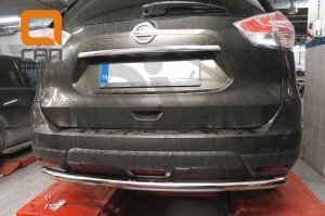 Защита заднего бампера Nissan X-Trail (2014-) (одинарная) d 60 2