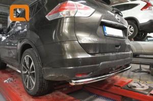 Защита заднего бампера Nissan X-Trail (2014-) (одинарная) d 60 3