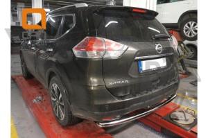 Защита заднего бампера Nissan X-Trail (2014-) (одинарная) d 60