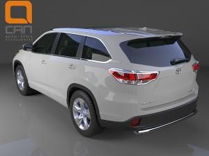 Защита заднего бампера Toyota Highlander (Тойота Хайлендер) (2014-) (одинарная) d 60