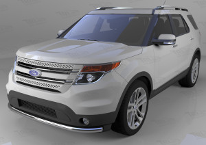 ащита переднего бампера Ford Explorer (2013-) (одинарная) d 60