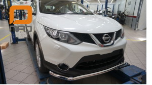 ащита переднего бампера Nissan Qashqai (2014-) (одинарная) d60 2