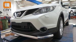 ащита переднего бампера Nissan Qashqai (2014-) (одинарная) d60