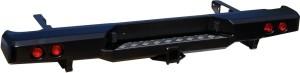 Бампер РИФ задний Toyota Hilux 2005-2014 с квадратом под фаркоп и фонарями